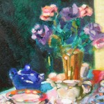 2006 Blue Tea pot25x 32 cm SOLD