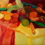 2011 Vegies 3 40 x 35 cm $850