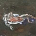 1986 Figure running a bath30 x 45cm$1200