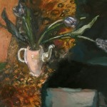 2005 Black Tulips 50x 65 cm $3000
