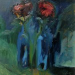 2007 Two Roses35 x 24 cm SOLD