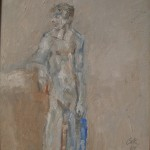 2008 Figure with blue towel30x35cmSOLD