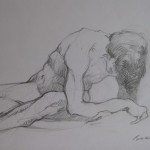 2007 Leaning male 30x45cm $120